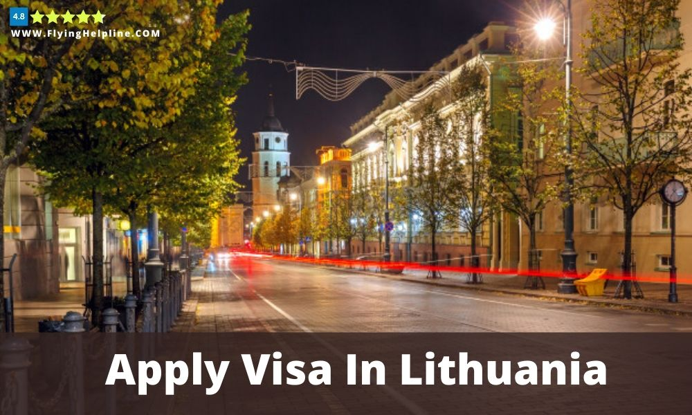 Apply travel visa in Lithuania